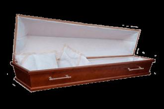 Гроб деревянный 28Г постель