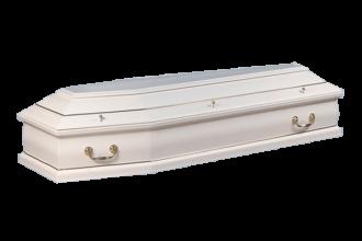 Гроб деревянный Саркофаг белый - 31700 руб.