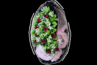 Венок на могилу B42 <br>Высота: <br> - 2020 рублей