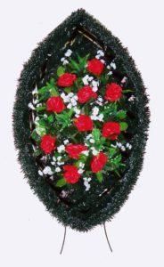 Венок на могилу B23Высота: 90см- 1130 рублей