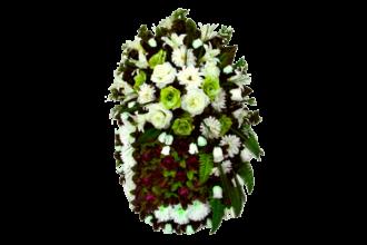 Венок на могилу п673 <br>Высота: <br> - 2850 рублей