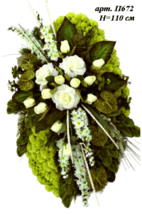 Венок на могилу п672Высота: 110см- 3350 рублей
