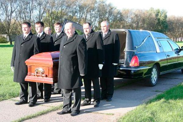 Похоронная бригада сопровождения