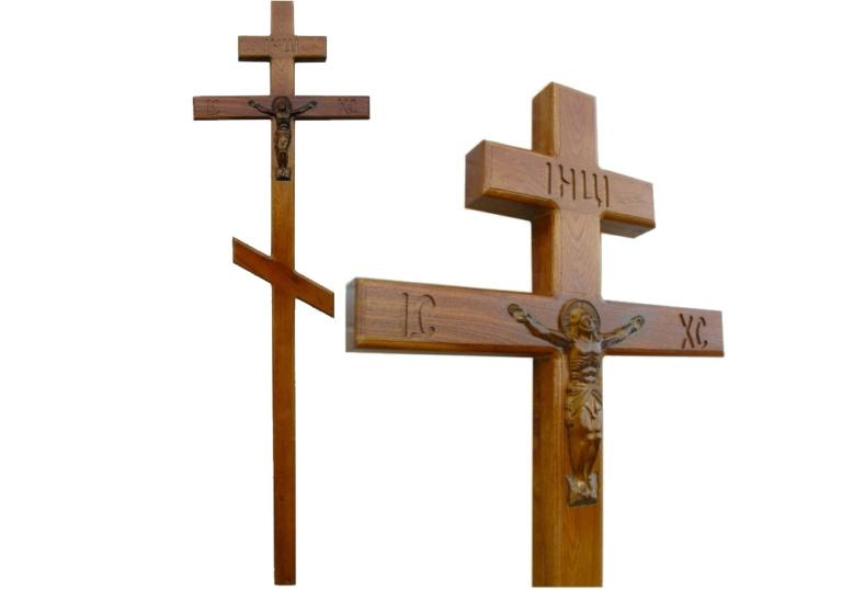 Крест на могилу из массива дуба