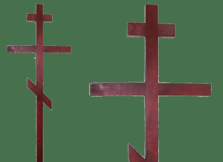 Крест на могилу из хвойного дерева