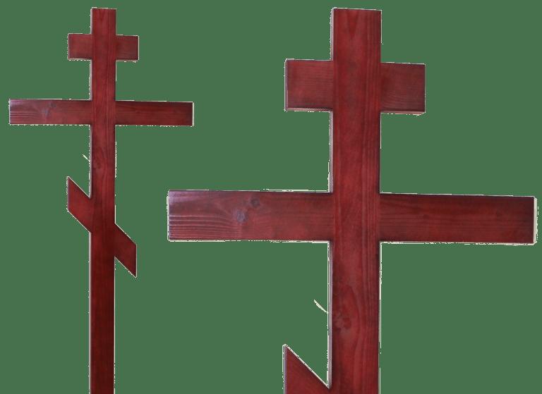 Крест на могилу из сосны
