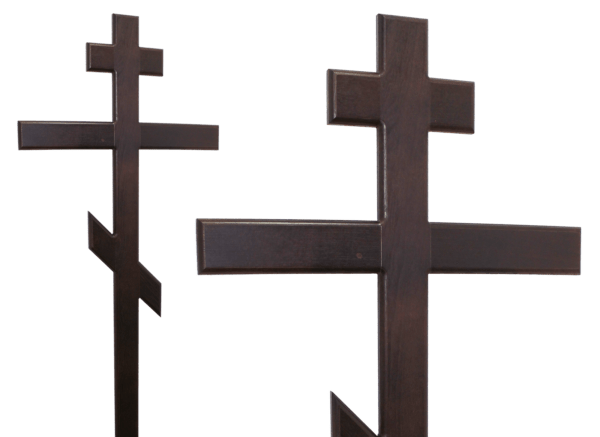 Крест на могилу из дерева