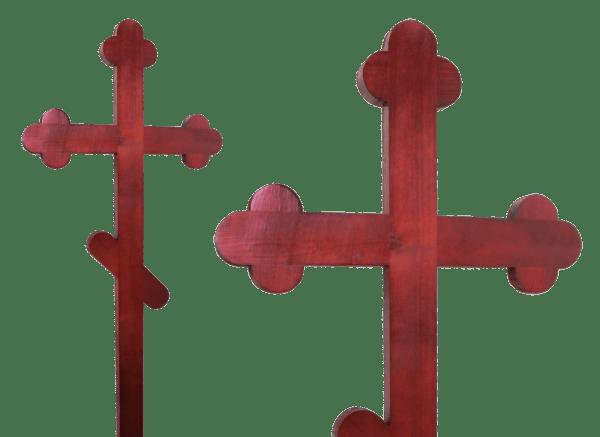 Крест из сосны на место захоронения