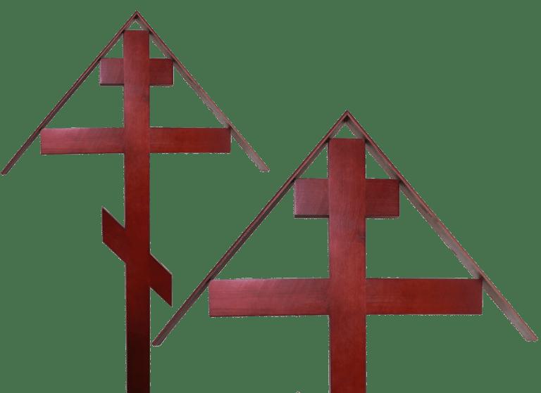 Крест на место захоронения из сосны