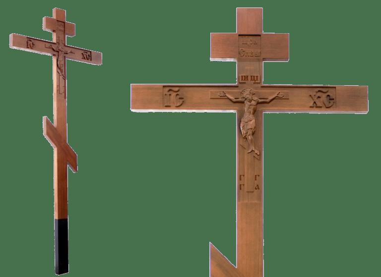 Деревянный крест на место захоронения