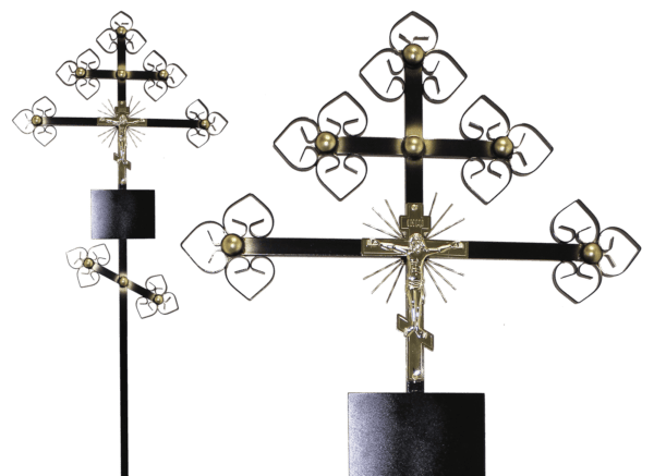 Крест на могилу из металла
