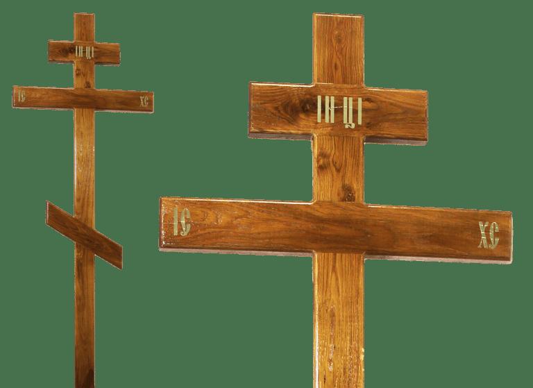 Крест на могилу из дуба
