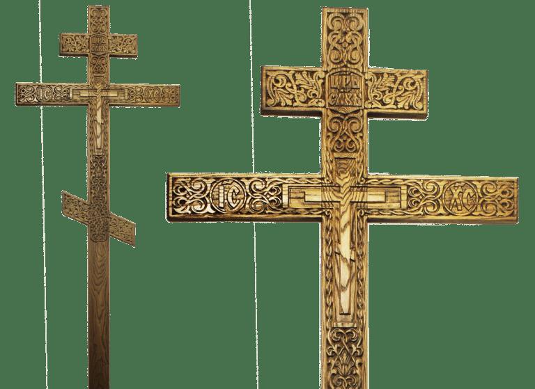 Могильный крест из ясеня