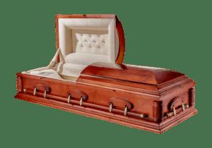 Деревянный двухкрышечный гроб