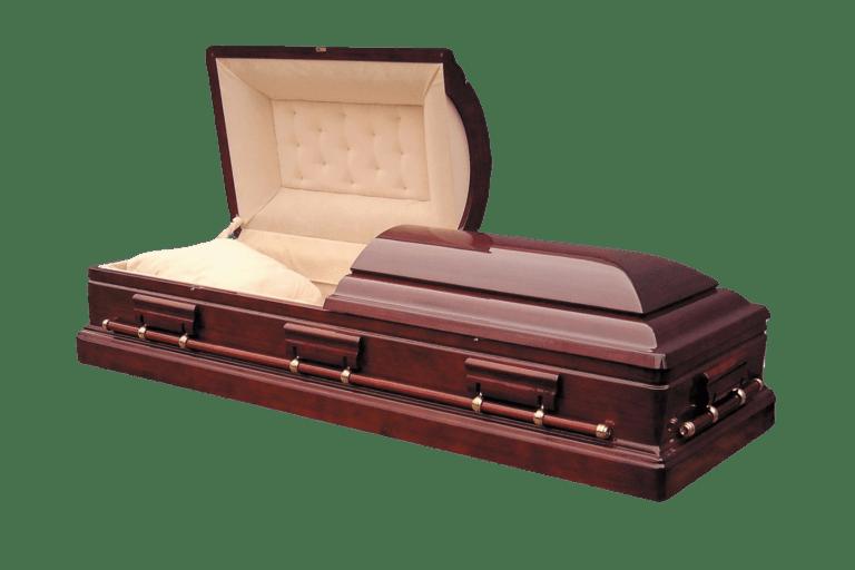 ГробДеревянный двухкрышечный гроб