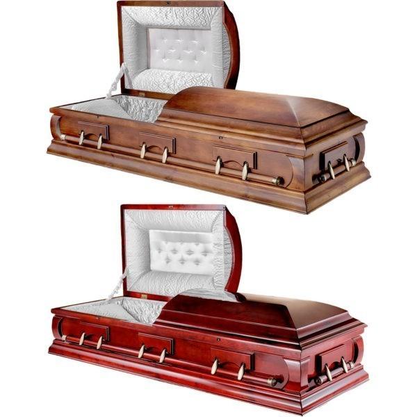 Деревянные двухкрышечные гробы