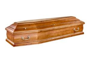 Деревянный гроб со съемной крышкой