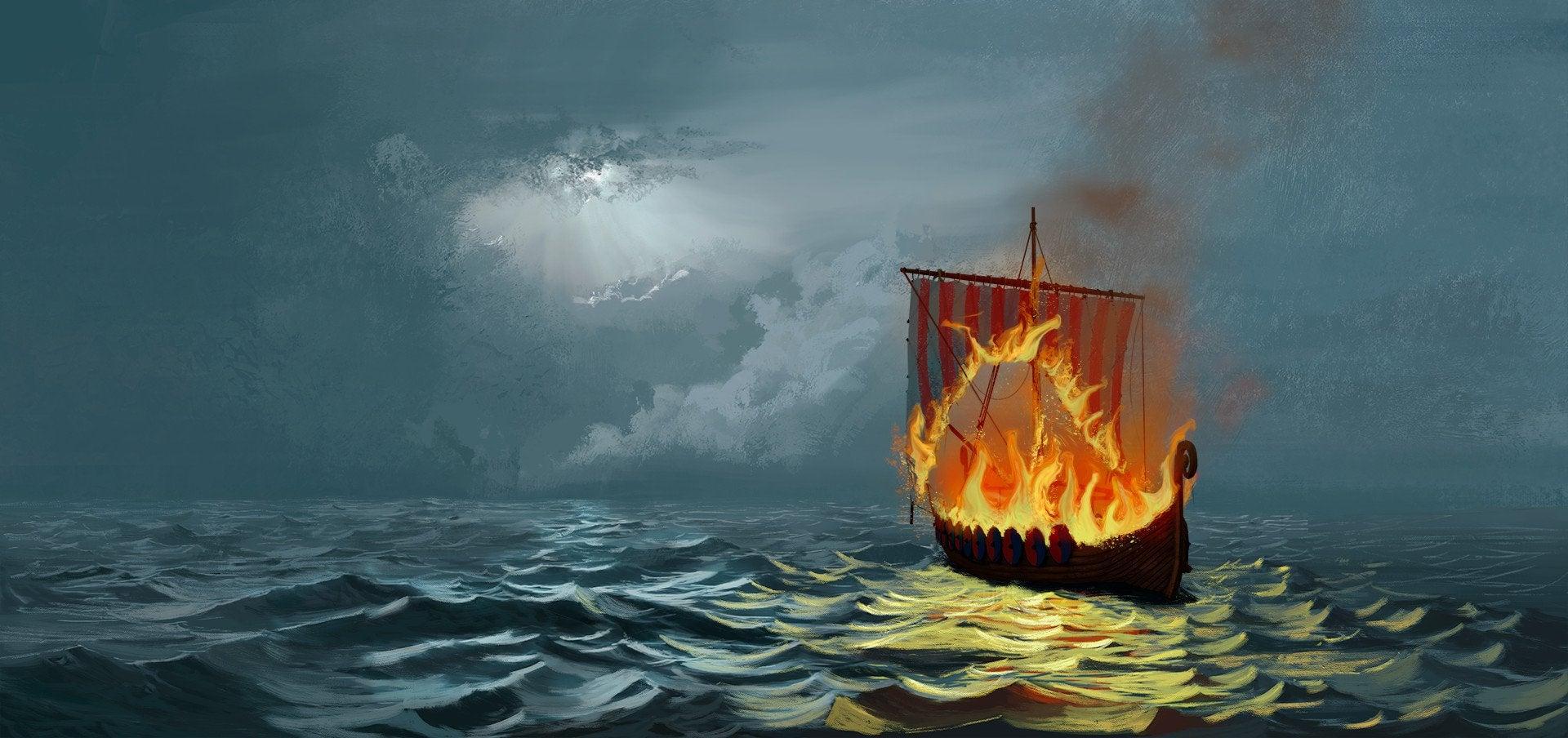 Похороны у викингов