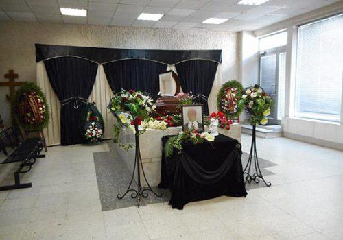 Оформление зала прощания в крематории